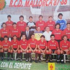 Coleccionismo deportivo: POSTER RCD MALLORCA '87-88. Lote 157008012