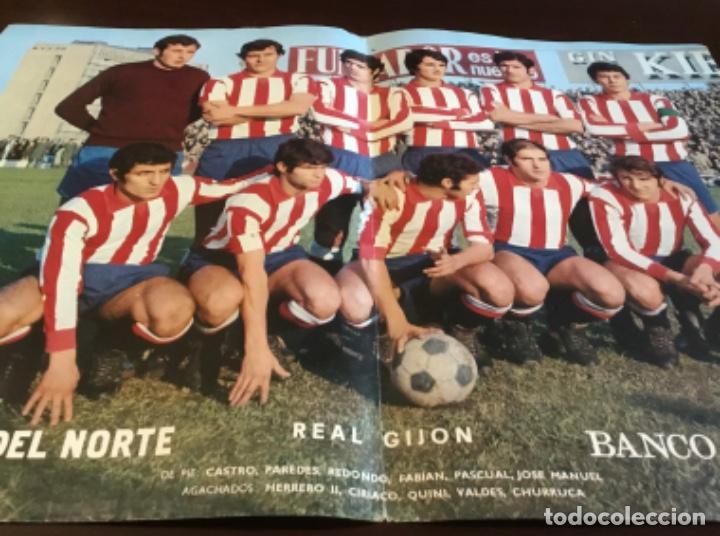 ANTIGUO PÓSTER REAL GIJON (Coleccionismo Deportivo - Carteles de Fútbol)
