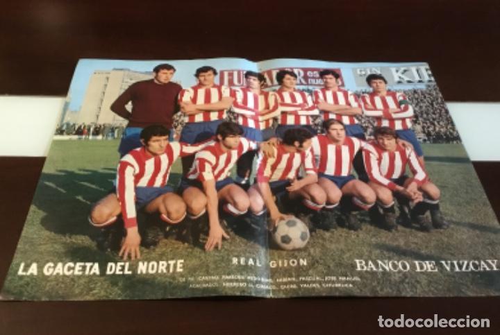 Coleccionismo deportivo: Antiguo póster real gijon - Foto 2 - 157963026