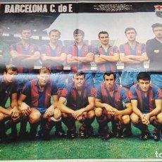 Coleccionismo deportivo: EXCELENTE CONSERVACION POSTER F.C. BARCELONA FUTBOL LIGA 69 70 1969 1970 COMO NUEVO MEDS 53X67 CMS . Lote 158082882