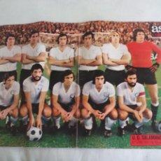 Coleccionismo deportivo: POSTER CENTRAL DE LA REVISTA AS COLOR. UNION DEPORTIVA SALAMANCA. 1974-75. FUTBOL. Nº 174. Lote 158613370