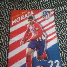 Coleccionismo deportivo: DOBLE PÓSTER 2 PÁG REVISTA JUGÓN 18-19 LIGA 2018-2019: MORATA (ATLÉTICO), SERGIO RAMOS (REAL MADRID). Lote 159774162