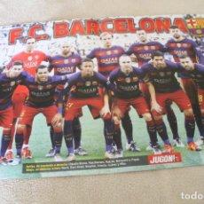 Coleccionismo deportivo: POSTER FC BARCELONA REVISTA JUGON. Lote 159895590