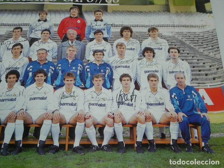 Coleccionismo deportivo: CARTEL, POSTER REAL MADRID TEMPORADA 1987 1988 - 87/88 - CON LAS FIRMAS IMPRESAS DE LOS JUGADORES, M - Foto 3 - 159953350