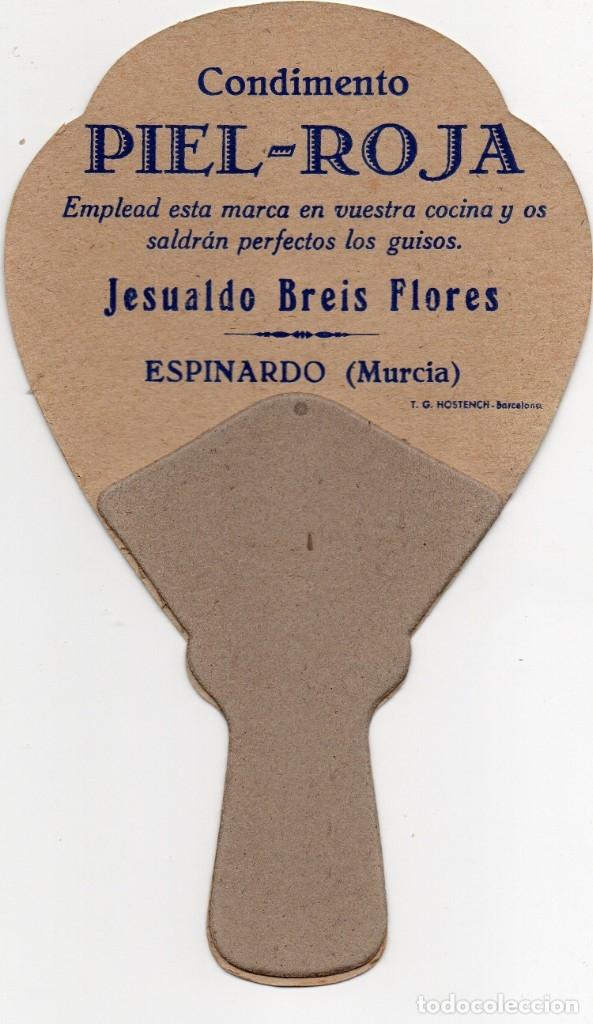 Coleccionismo deportivo: FUTBOL, ABANICO PAYPAL AÑOS 40,CON PUBLICIDAD CONDIMENTOS PIEL-ROJA - Foto 2 - 160339634
