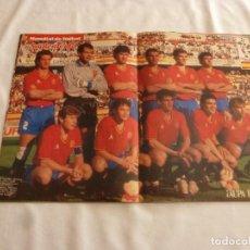 Coleccionismo deportivo: POSTER(28 X 41)SELECCIÓN DE ESPAÑA EN MUNDIAL DE ITALIA 1990. Lote 161034786