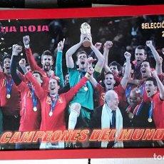 Sammelleidenschaft Sport - Cartel / cuadro con marco Seleccion Española 2010 Campeones del mundo. La furia roja - 59x33 cm - 162123678