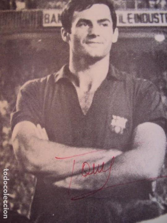 Coleccionismo deportivo: (F-190550)CARTEL C.F.BARCELONA CAMPEON DE ESPAÑA 1967-68 AUTOGRAFOS ORIGINALES - Foto 3 - 164114438