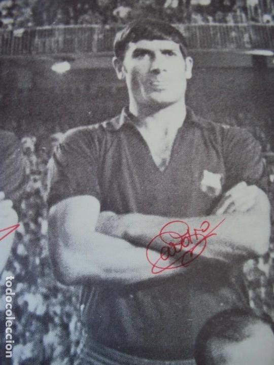 Coleccionismo deportivo: (F-190550)CARTEL C.F.BARCELONA CAMPEON DE ESPAÑA 1967-68 AUTOGRAFOS ORIGINALES - Foto 5 - 164114438