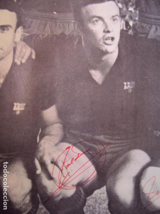 Coleccionismo deportivo: (F-190550)CARTEL C.F.BARCELONA CAMPEON DE ESPAÑA 1967-68 AUTOGRAFOS ORIGINALES - Foto 10 - 164114438