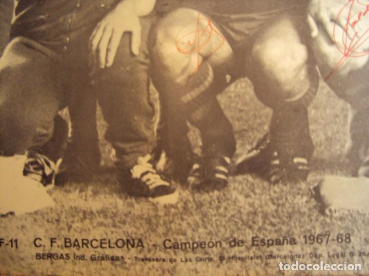 Coleccionismo deportivo: (F-190550)CARTEL C.F.BARCELONA CAMPEON DE ESPAÑA 1967-68 AUTOGRAFOS ORIGINALES - Foto 28 - 164114438
