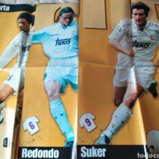 Coleccionismo deportivo: LOTE POSTERS REAL MADRID DIARIO MARCA 1996 1997. Lote 164728040