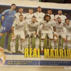 Coleccionismo deportivo: -POSTER REAL MADRID 18-19 , DETRAS POSTER NINTENDO SUPER SMASH BROS. Lote 167479344