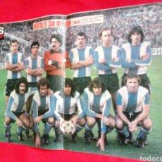 Coleccionismo deportivo: HERCULES CLUB DE FÚTBOL 1980 1981 EN PRIMERA DIVISIÓN PÓSTER AS COLOR 80/81. Lote 167563304