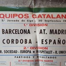 Coleccionismo deportivo: POSTER DEPORTIVO. BARCELONA-AT MADRID. Lote 168043961
