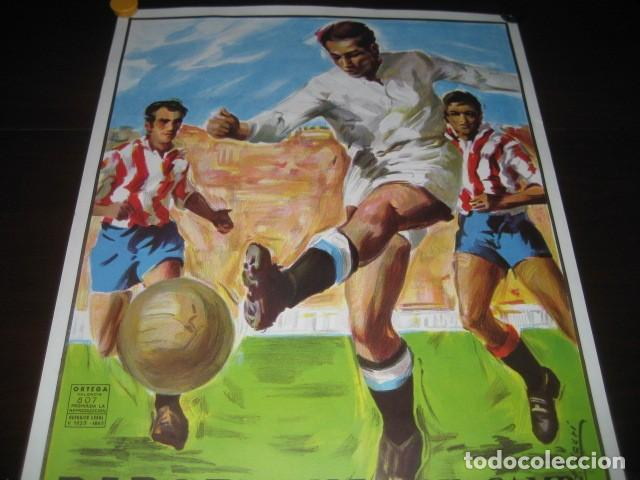 Coleccionismo deportivo: CARTEL POSTER FUTBOL MUNDIAL ESPAÑA 1982. ESTADIO NOU CAMP BARCELONA. ARGENTINA - BELGICA - Foto 2 - 168245312