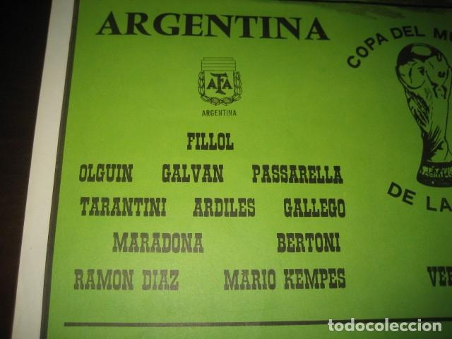 Coleccionismo deportivo: CARTEL POSTER FUTBOL MUNDIAL ESPAÑA 1982. ESTADIO NOU CAMP BARCELONA. ARGENTINA - BELGICA - Foto 5 - 168245312