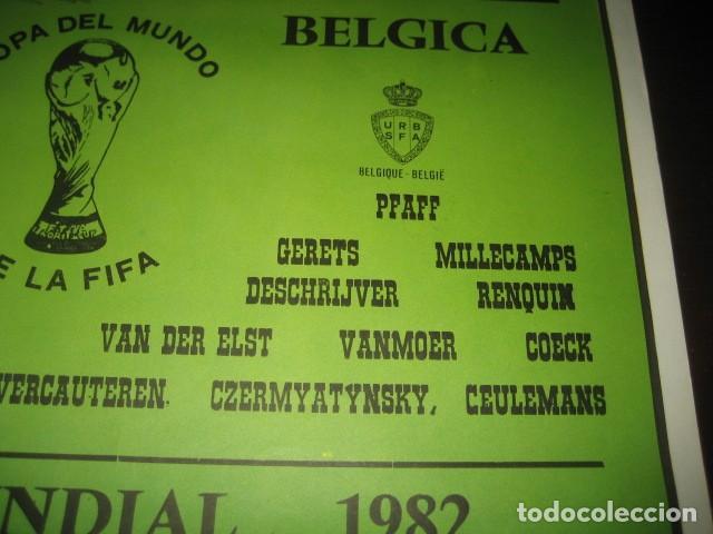 Coleccionismo deportivo: CARTEL POSTER FUTBOL MUNDIAL ESPAÑA 1982. ESTADIO NOU CAMP BARCELONA. ARGENTINA - BELGICA - Foto 6 - 168245312