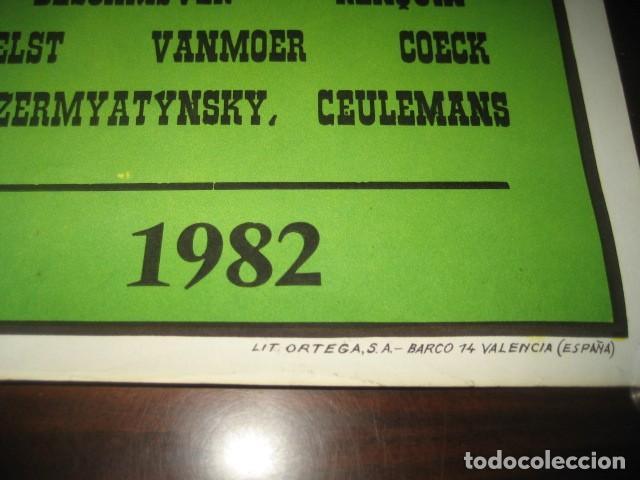 Coleccionismo deportivo: CARTEL POSTER FUTBOL MUNDIAL ESPAÑA 1982. ESTADIO NOU CAMP BARCELONA. ARGENTINA - BELGICA - Foto 8 - 168245312