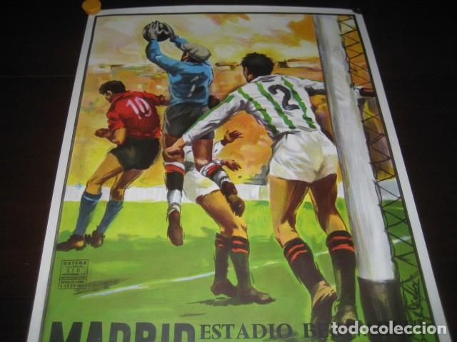 Coleccionismo deportivo: CARTEL POSTER FUTBOL MUNDIAL ESPAÑA 1982. ESTADIO S. BERNABEU, MADRID. ESPAÑA - INGLATERRA - Foto 2 - 168245384