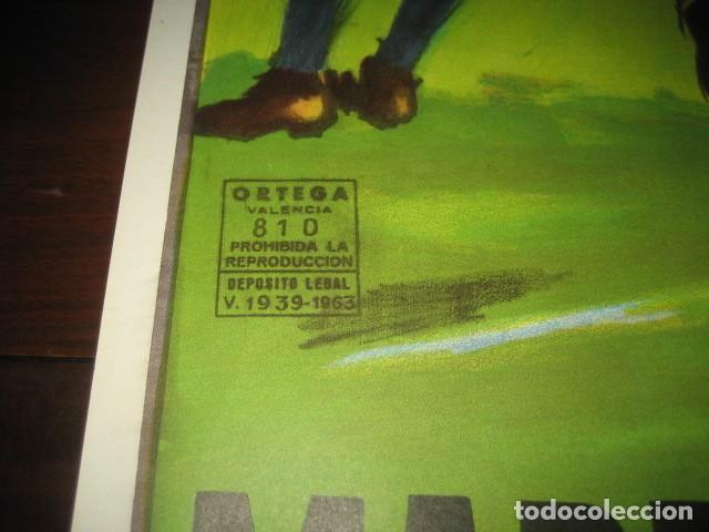 Coleccionismo deportivo: CARTEL POSTER FUTBOL MUNDIAL ESPAÑA 1982. ESTADIO S. BERNABEU, MADRID. ESPAÑA - INGLATERRA - Foto 7 - 168245384