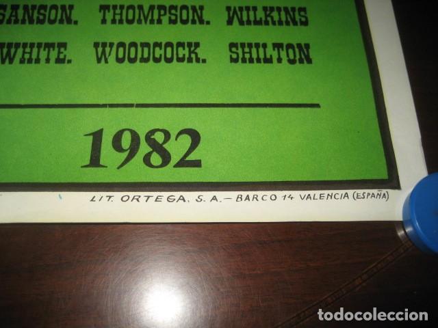 Coleccionismo deportivo: CARTEL POSTER FUTBOL MUNDIAL ESPAÑA 1982. ESTADIO S. BERNABEU, MADRID. ESPAÑA - INGLATERRA - Foto 8 - 168245384
