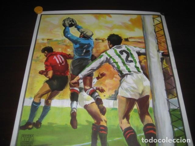 Coleccionismo deportivo: CARTEL POSTER FUTBOL MUNDIAL ESPAÑA 1982. ESTADIO V. CALDERON, MADRID. FRANCIA - AUSTRIA - Foto 2 - 168245564