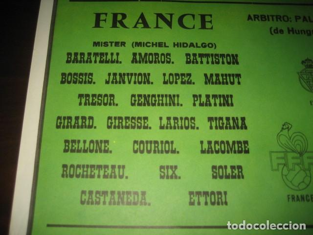 Coleccionismo deportivo: CARTEL POSTER FUTBOL MUNDIAL ESPAÑA 1982. ESTADIO V. CALDERON, MADRID. FRANCIA - AUSTRIA - Foto 5 - 168245564