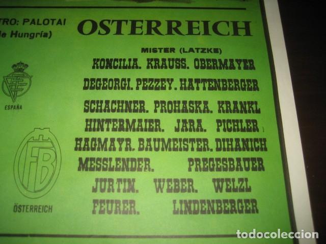 Coleccionismo deportivo: CARTEL POSTER FUTBOL MUNDIAL ESPAÑA 1982. ESTADIO V. CALDERON, MADRID. FRANCIA - AUSTRIA - Foto 6 - 168245564