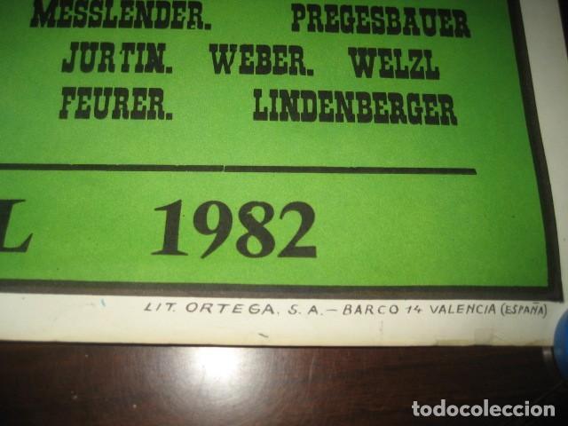 Coleccionismo deportivo: CARTEL POSTER FUTBOL MUNDIAL ESPAÑA 1982. ESTADIO V. CALDERON, MADRID. FRANCIA - AUSTRIA - Foto 8 - 168245564