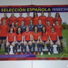 Coleccionismo deportivo: POSTER SELECCIÓN ESPAÑOLA MUNDIAL FEMENINO FRANCIA 2019 WORLD CUP FRANCE WOMEN'S FÚTBOL (45X30). Lote 170858555