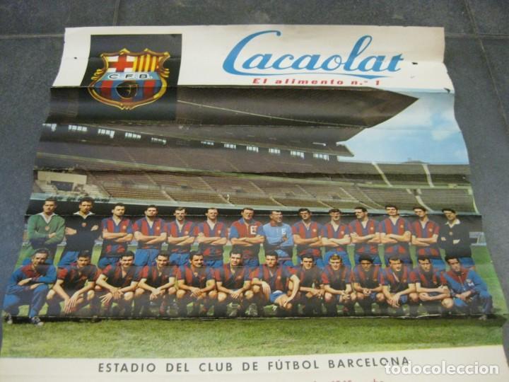Coleccionismo deportivo: cartel poster IV trofeo ciudades en feria 1961 ciudad de berlin futbol club barcelona barça - Foto 2 - 171365010