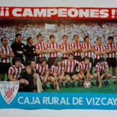 Coleccionismo deportivo: POSTER - ATHLETIC CLUB DE BILBAO - CAMPEÓN DE COPA 1973 - CAJA RURAL DE VIZCAYA - ORIGINAL. Lote 171441123