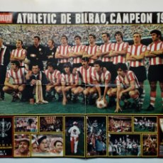 Coleccionismo deportivo: POSTER - ATHLETIC CLUB DE BILBAO - CAMPEÓN COPA 1973 - LA ACTUALIDAD ESPAÑOLA -. Lote 171447355