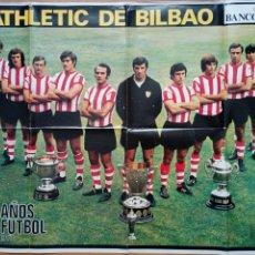 Coleccionismo deportivo: POSTER - ATHLETIC CLUB DE BILBAO / 75 AÑOS DE FÚTBOL 1898 - 1973 / LA ACTUALIDAD ESPAÑOLA -. Lote 171447783