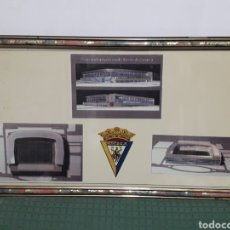 Coleccionismo deportivo: ANTIGUO CUADRO PROYECTO PARA NUEVO ESTADIO RAMON DE CARRANZA CADIZ 85X48CM. Lote 171545143