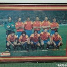 Coleccionismo deportivo: ANTIGUO POSTER SELECION EDPAÑOLA EL CORREO 57X42. Lote 172253227