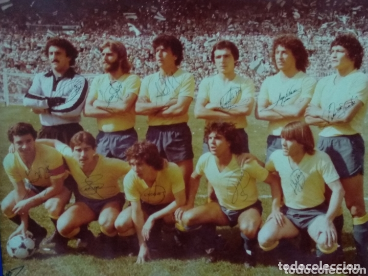 Coleccionismo deportivo: ANTIGUA FOTO DEL CADIZ FIRMA JUGADORES Y DEDICADA 58X50 - Foto 2 - 172253390