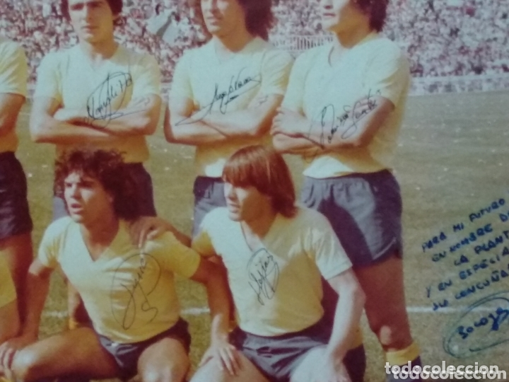 Coleccionismo deportivo: ANTIGUA FOTO DEL CADIZ FIRMA JUGADORES Y DEDICADA 58X50 - Foto 5 - 172253390
