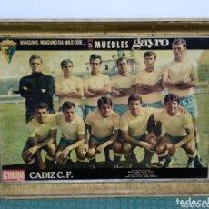 Coleccionismo deportivo: ANTIGUO POSTER DEL CADIZ C.F. 54X38. Lote 172253612