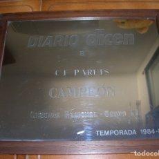 Coleccionismo deportivo: CUADRO ESPEJO DIARIO DICEN A C,F ,PARETS CAMPEON DE SEGUNDA REGIONAL GRUPO IV ,TEMPORADA. Lote 172267064