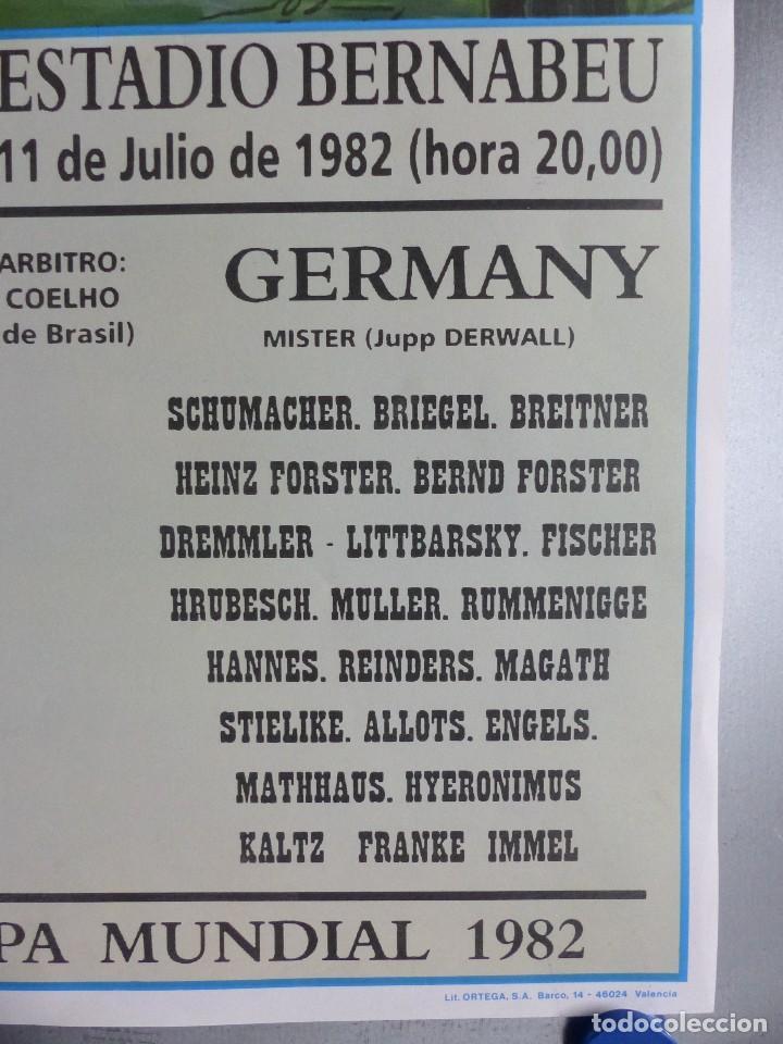 Coleccionismo deportivo: AÑO 1982 - CARTEL FINAL MUNDIAL ESPAÑA 82 - ITALIA - ALEMANIA - ESTADIO SANTIAGO BERNABEU DE MADRID - Foto 5 - 178570341