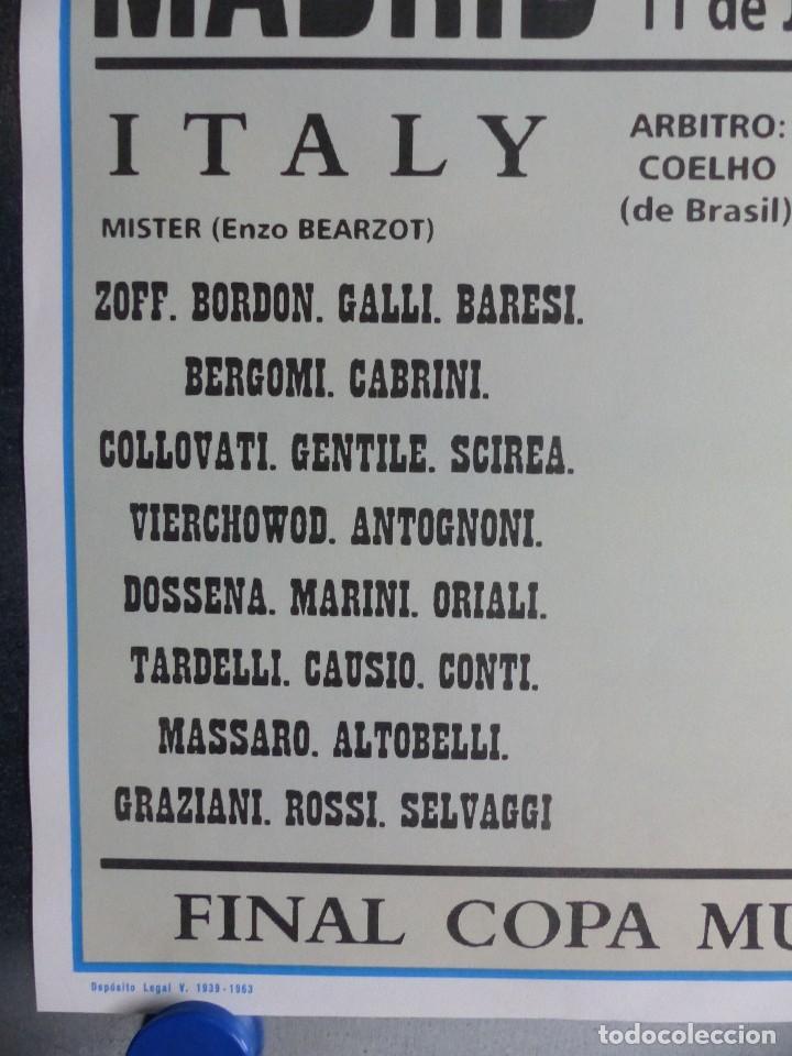 Coleccionismo deportivo: AÑO 1982 - CARTEL FINAL MUNDIAL ESPAÑA 82 - ITALIA - ALEMANIA - ESTADIO SANTIAGO BERNABEU DE MADRID - Foto 6 - 178570341