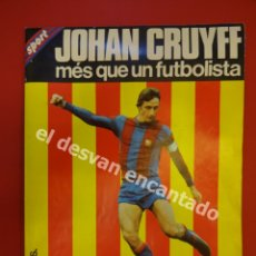 Coleccionismo deportivo: JOHAN CRUYFF. SUPER POSTER 100 X 65 CTMS. CON BIOGRAFÍA.. Lote 172703678