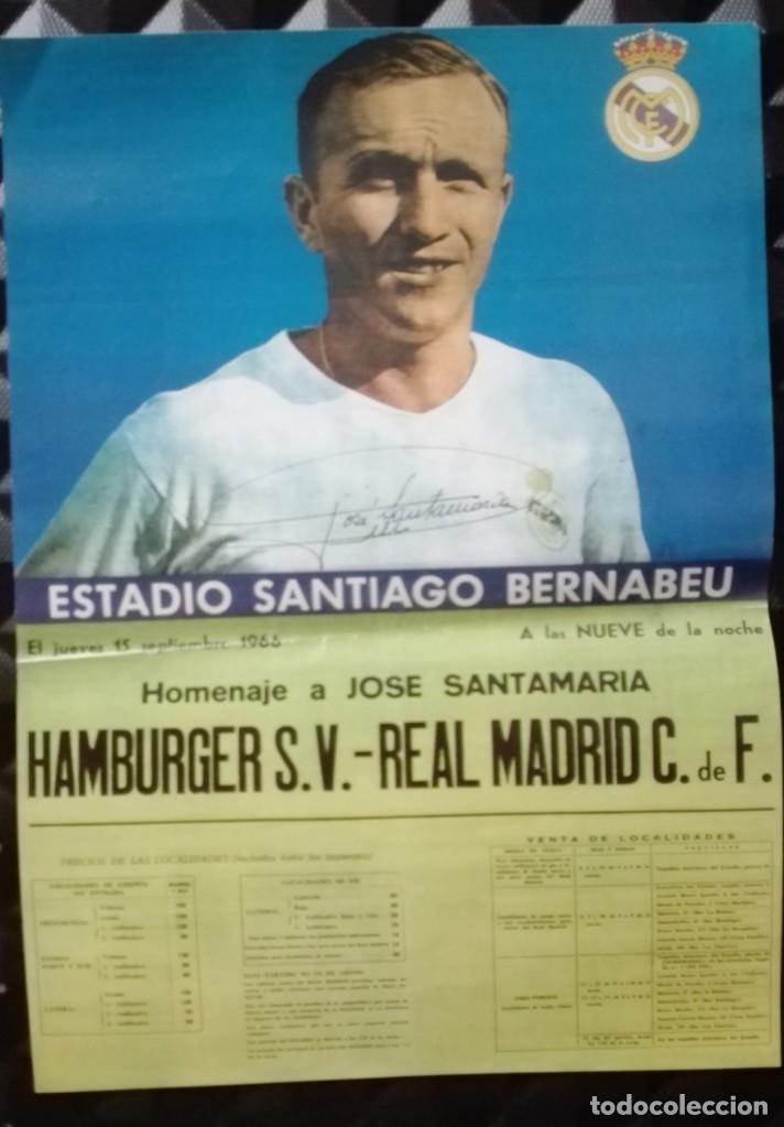POSTER CARTEL HOMENAJE JODE SANTAMARIA 28 POR 40 CM (Coleccionismo Deportivo - Carteles de Fútbol)