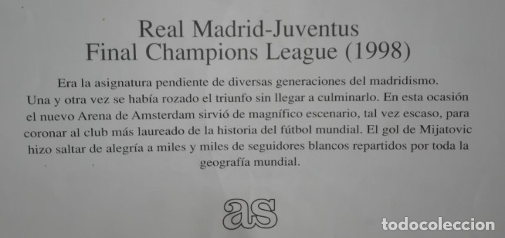 Coleccionismo deportivo: POSTER CARTEL, FINAL CHAMPIONS JUVENTUS REAL MADRID MAYO 1998, 7ª CHAMPIONS - Foto 2 - 172829238