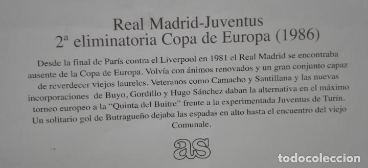 Coleccionismo deportivo: POSTER CARTEL JUVENTUS - REAL MADRID 1986 - 28 POR 40 CM - Foto 2 - 172829598