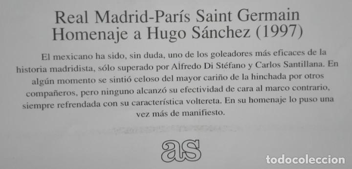 Coleccionismo deportivo: POSTER CARTEL, PARTIDO HOMENAJE HUGO SANCHEZ. 28 POR 40 CM - Foto 3 - 172829805
