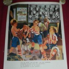 Coleccionismo deportivo: (M) CARTEL ATH BILBAO ORIGINAL ZUGAZABEITIA Y LEGARRA BILBAO, LOS DE AYER, LOS DE HOY LEONES. Lote 173119592