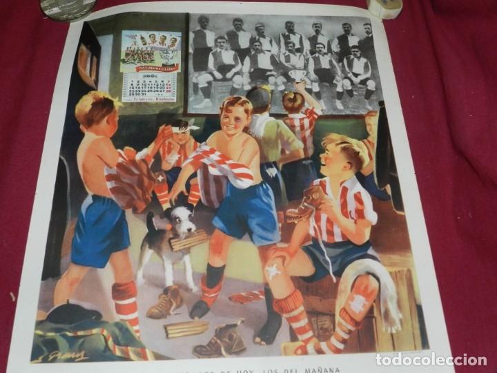 Coleccionismo deportivo: (M) Cartel Ath Bilbao original Zugazabeitia y Legarra Bilbao, Los de Ayer, los de hoy Leones - Foto 2 - 173119592
